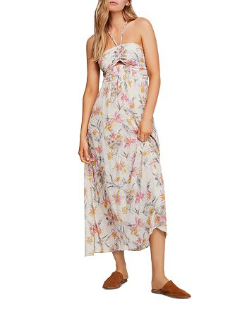 Free People - One Step Ahead Floral-Print Midi Dress