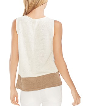 VINCE CAMUTO - Sleeveless Color-Block Sweater