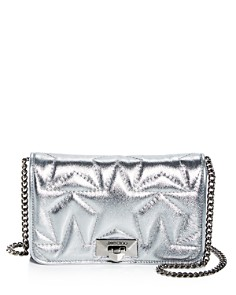 Jimmy Choo - Helia Star-Embossed Small Leather Crossbody
