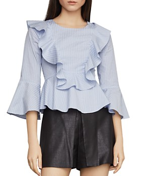 9e122ea74cb3d BCBGMAXAZRIA - Striped Cutout Peplum Top BCBGMAXAZRIA - Striped Cutout  Peplum Top. Quick View