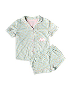 PJ Salvage - Girls' Scales Top & Shorts Pajama Set - Big Kid
