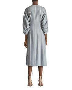 Yigal Azrouel - Shadow-Stripe Wrap Dress