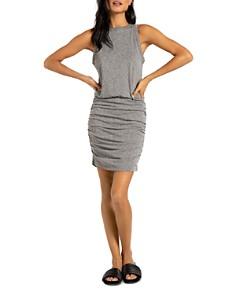 n:philanthropy - Majorca Side-Ruched Sleeveless T-Shirt Dress