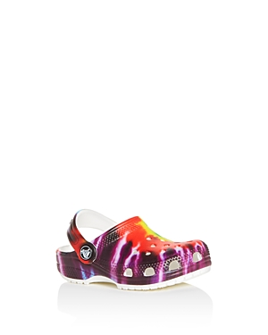 Crocs Unisex Classic Tie-Dye Clogs - Walker, Todder, Little Kid