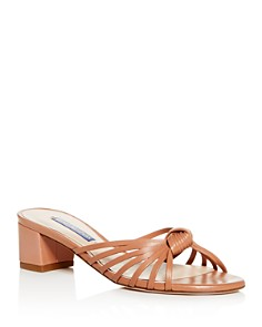Stuart Weitzman - Women's Sidney Strappy Block-Heel Slide Sandals