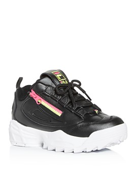 FILA -  Women's Disruptor 3 Zip Low-Top Sneakers