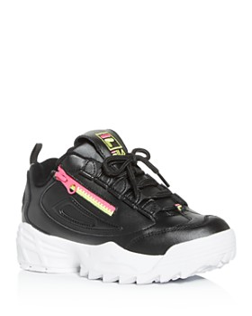 FILA -  Women's Disruptor 3 Zip Low-Top Sneakers