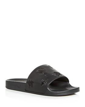 competitive price b1efa ac162 Y-3 - Men s Adilette Embroidered Slide Sandals ...