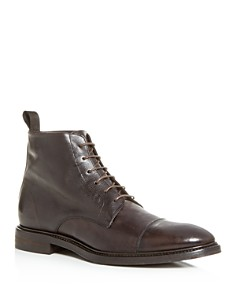 Paul Smith - Men's Jarman Leather Cap-Toe Boots