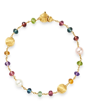 Marco Bicego 18K Yellow Gold Africa Gemstone Pearl Beaded Bracelet-Jewelry & Accessories