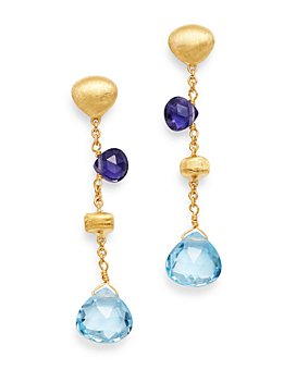 Marco Bicego - 18K Yellow Gold Paradise Iolite & Blue Topaz Drop Earrings - 100% Exclusive