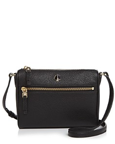 kate spade new york - Small Zip-Front Leather Crossbody