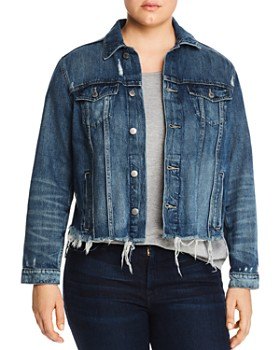 5aea29b1ea3 Lucky Brand Plus - Tomboy Denim Trucker Jacket ...