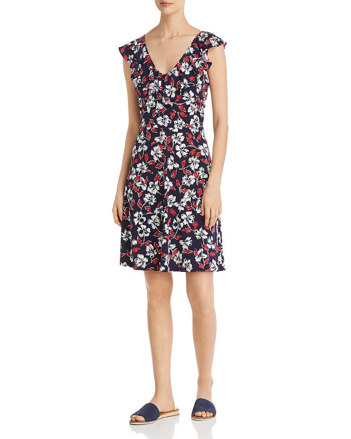 19cf055ad6b Leota - V-Neck Floral-Print Dress