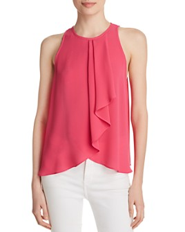 Status by Chenault - Sleeveless Flutter-Front Top