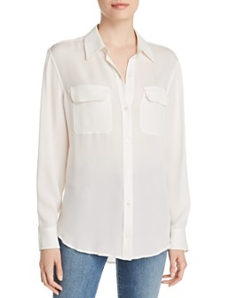 Relative Pi - Long-Sleeve Silk Blouse