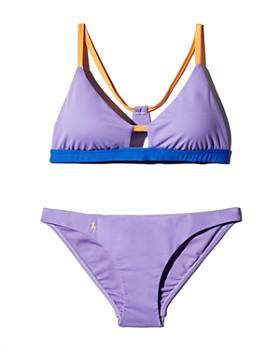 642143f7b489f Polo Ralph Lauren - Modern Solids Cutout Racerback Bikini Top & Modern  Solids Devin Hipster Bikini
