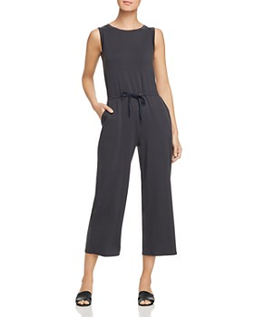 Eileen Fisher Petites - Cropped Wide-Leg Jumpsuit