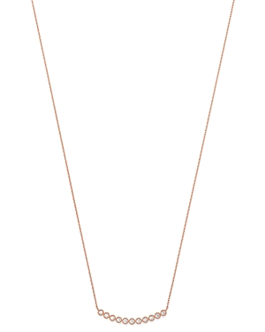 Bloomingdale's Diamond Milgrain Bar Necklace in 14K Rose Gold, 0.25 ct. t.w. - 100% Exclusive