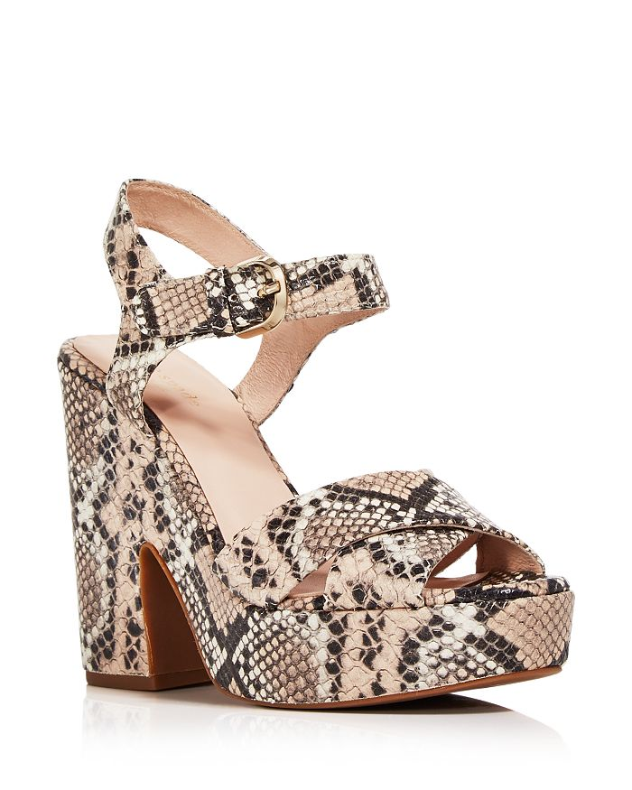 kate spade new york - Women's Grace Snake Print Platform Sandals