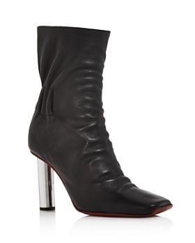 Proenza Schouler - Women's Ruched Leather Booties