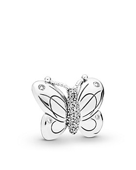 Pandora - Sterling Silver & Cubic Zirconia Oversized Butterfly Clip