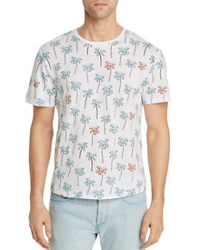 Sovereign Code - Calypso Palm Tree-Print Slub-Knit Tee