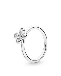 Pandora - Sterling Silver & Cubic Zirconia Flower Ring