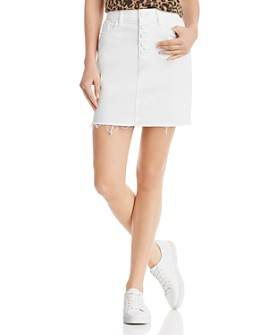 PAIGE - Aideen Denim Skirt in Crisp White Distressed