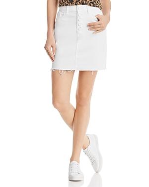 Paige Skirts AIDEEN DENIM SKIRT IN CRISP WHITE DISTRESSED