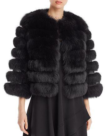 Maximilian Furs - Short Fox Fur Coat - 100% Exclusive