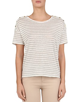 Gerard Darel - Vanou Metallic Striped Tee
