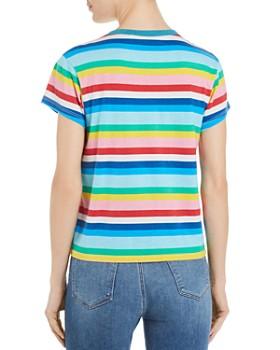 PAM & GELA - Rainbow-Stripe Tee