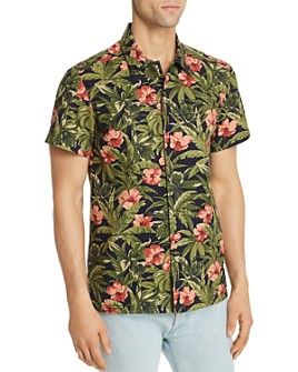 A.P.C. - Chemisette Short-Sleeve Floral-Print Regular Fit Shirt