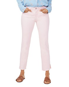 NYDJ - Cropped Straight-Leg Jeans in Pink Dusk