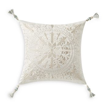 """Waterford - Daphne Embroidered Square Pillow, 18"""" x 18"""""""
