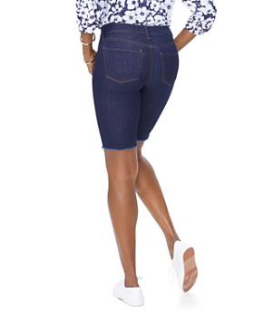 NYDJ - Briella Frayed Denim Bermuda Shorts in Rinse