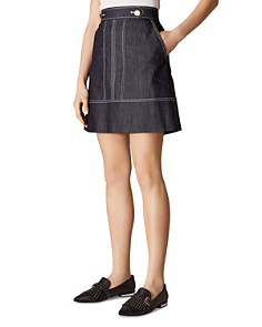 KAREN MILLEN - Denim A-Line Skirt