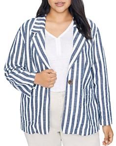 Sanctuary Curve - Sunrise Striped Cotton Blazer