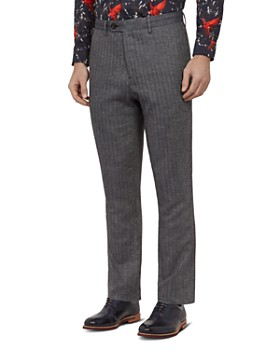 02484b212 Ted Baker - Balrtro Herringbone Regular Fit Trousers ...
