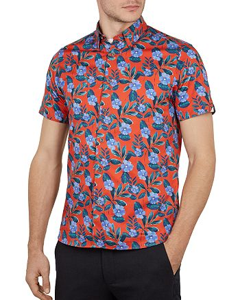 Ted Baker - Plataps Floral Print Slim Fit Shirt