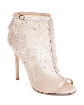 Badgley Mischka - Women's Isadora Mesh Open-Toe Booties