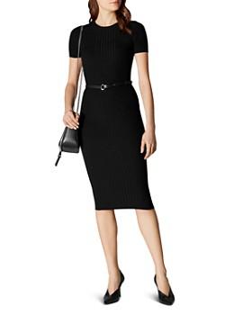 935c90b6bed KAREN MILLEN - Belted Rib-Knit Dress ...
