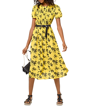 Michael Michael Kors Botanical Pintucked Dress