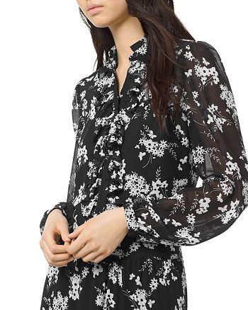 MICHAEL Michael Kors - Ruffled Floral-Print Blouse
