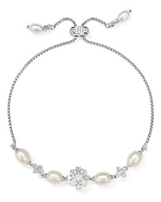 Nadri - Tulle Cultured Freshwater Pearl Bolo Bracelet