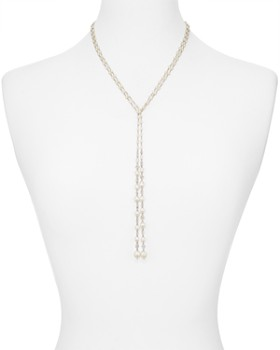 Nadri - Tulle Cultured Freshwater Pearl Lariat Necklace, 40""