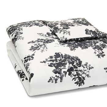 Vera Wang - Ink Botanical Sateen Duvet Cover, Queen