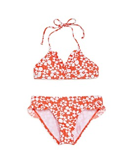 Splendid - Girls' Ruffled Floral Print Two-Piece Swimsuit, Big Kid - 100% Exclusive