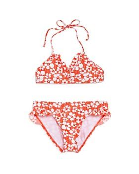 Splendid - Girls' Ruffled Floral Print Two-Piece Swimsuit, Big Kid - 100% Exclusive